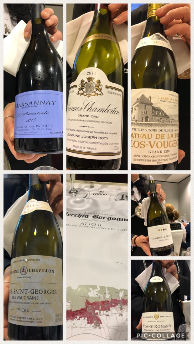 I vini della Cote de Nuits degustati a Sorrento