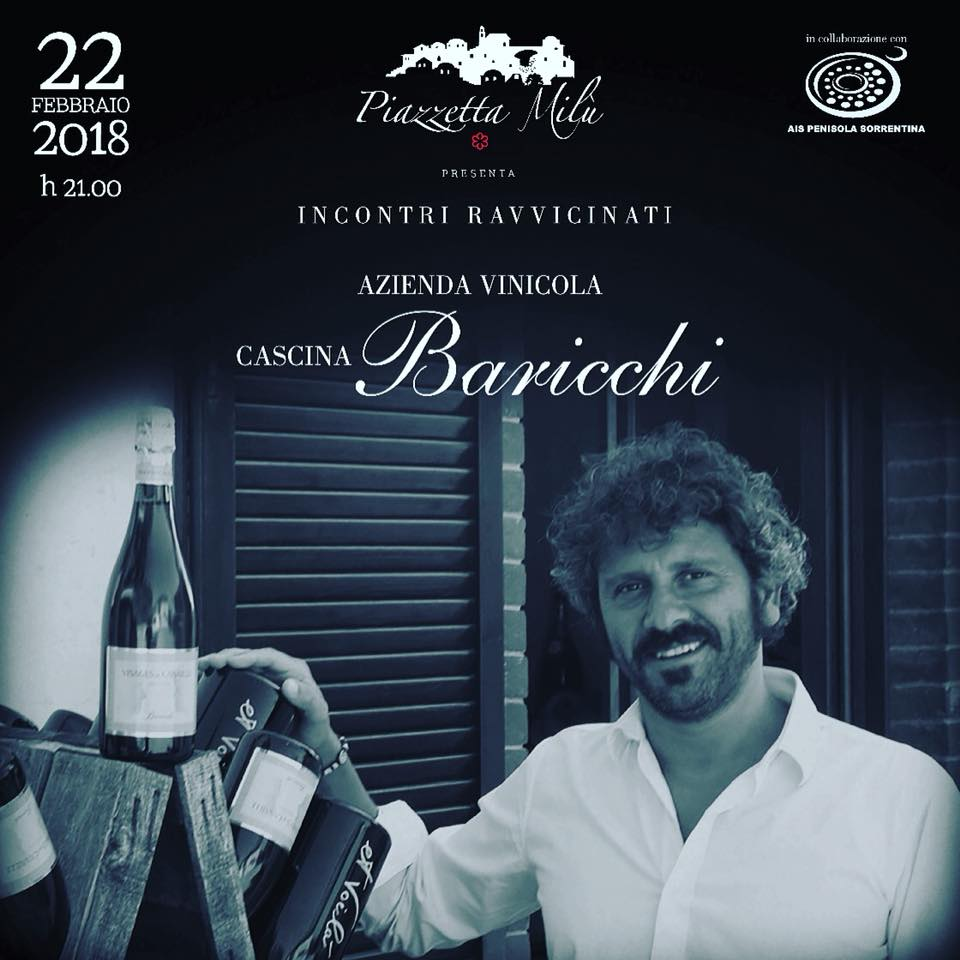 Piazzetta Milu' incontra i vini di Cascina Baricchi