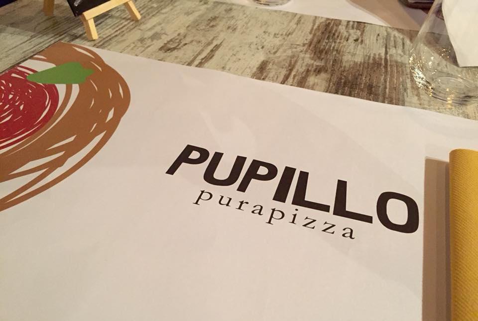 Pizzeria Pupillo, la tovaglietta