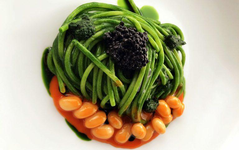 Spaghetto cavolo nero e fagioli di Pigna