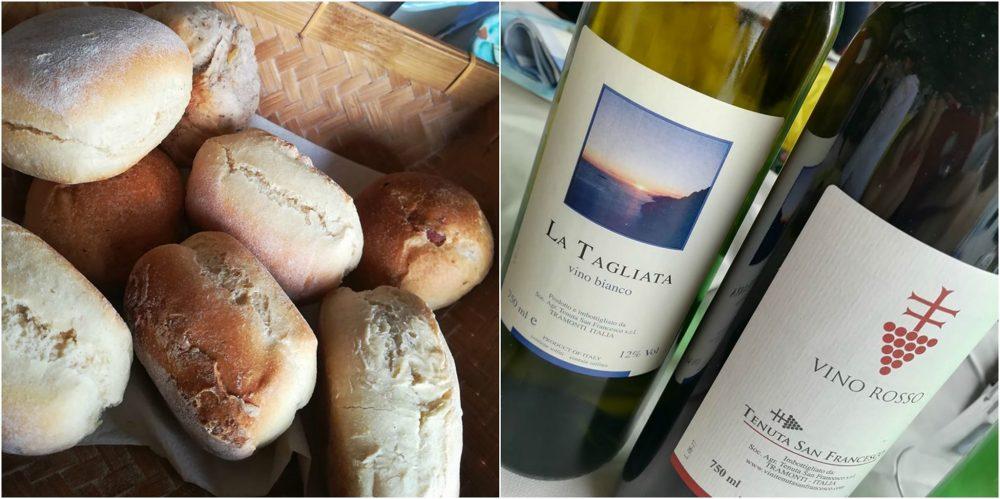 La Tagliata - I panini ed il vino della casa, bianco e rosso