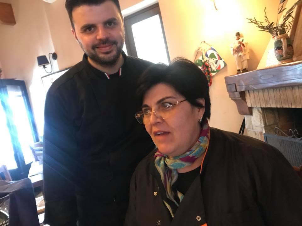Da Michele al Villino, Camaldoli. Vincenzo con la madre Linda