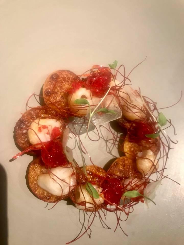 Vun, gnocchi di patate conaglio, olio e totani