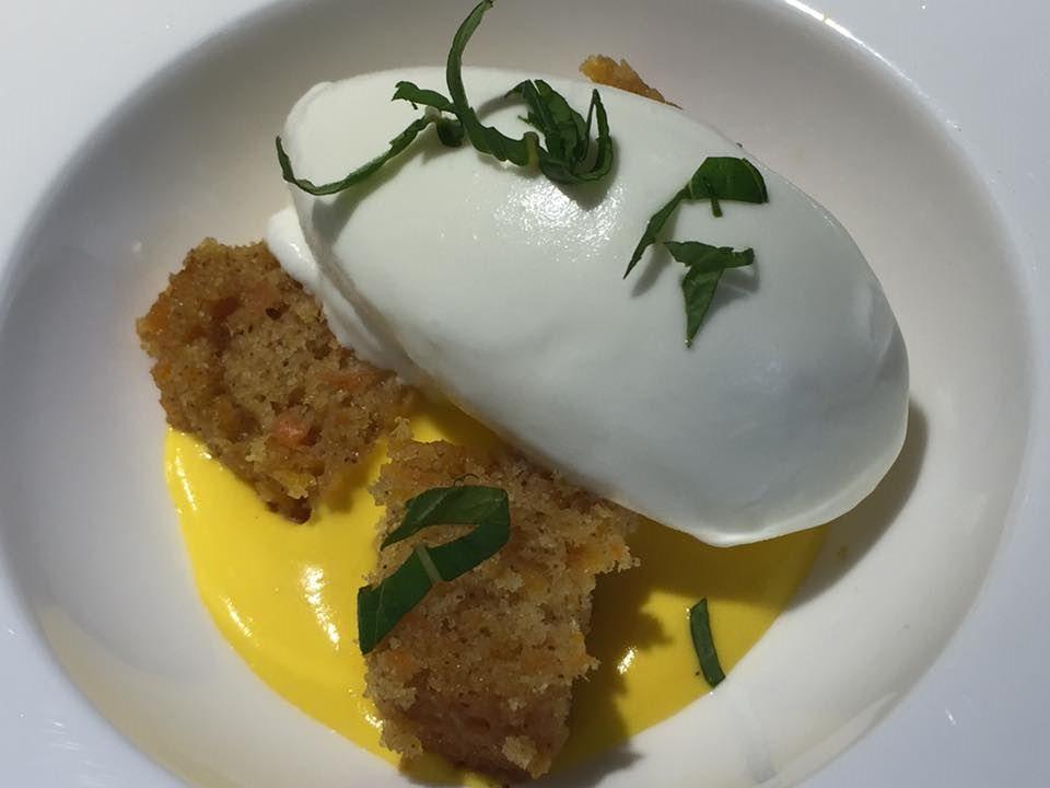 Locanda Severino, pre dessert con carota e formaggio