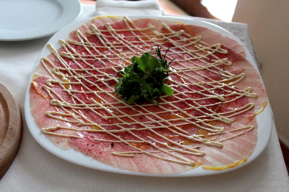 Masseria Mastrangelo il carpaccio di manzo alla Cipriani