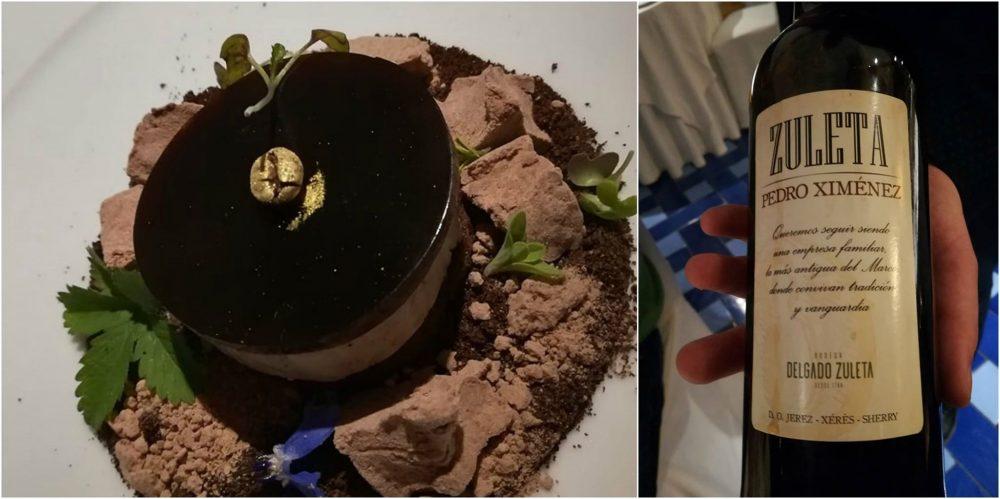 Faro di Capo D'orso - Il dessert a base di foie gras e Sherry Pedro Ximenez