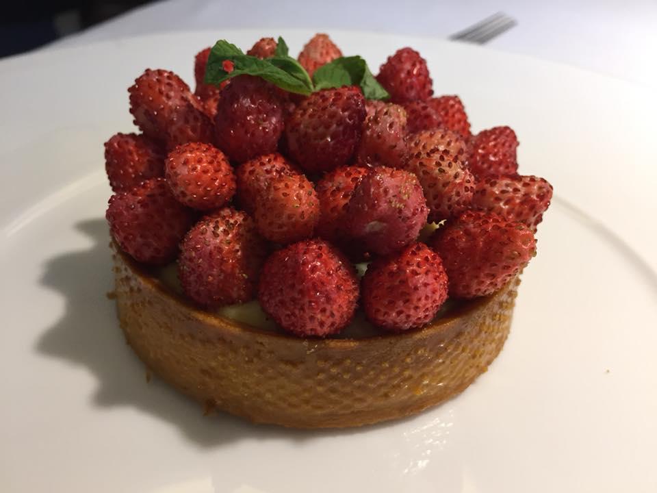 Locanda Severino, dessert alle fragoline di bosco