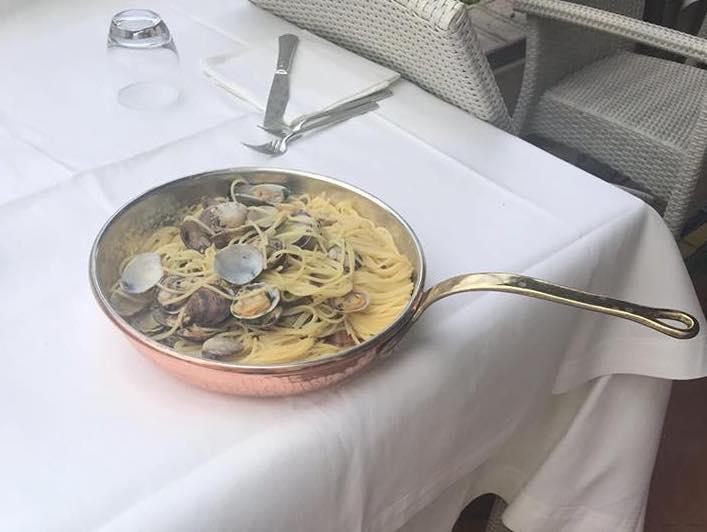 Ristorante Al convento Cetara, spaghetti con le vongole