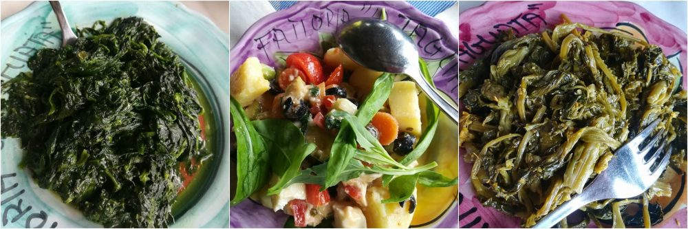 La Tagliata - spinaci, insalata dell'orto e scarola