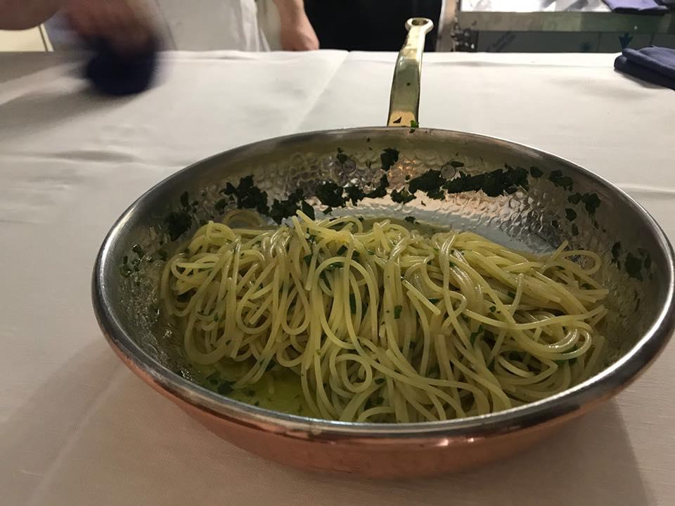 Ristorante Al convento Cetara, spaghetti con la colatura di alici