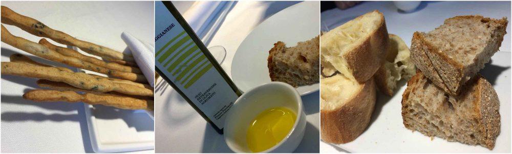 Locanda Severino, pane, grissini e olio della casa