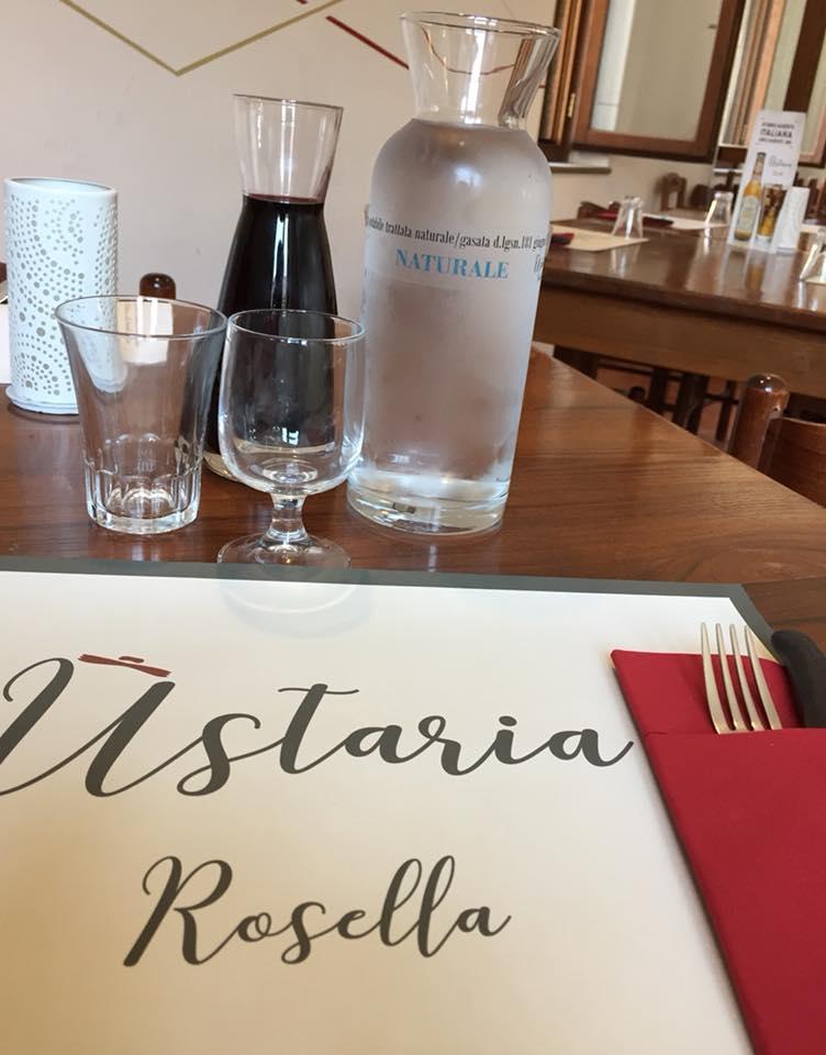 Ustaria Rosella, il tavolo