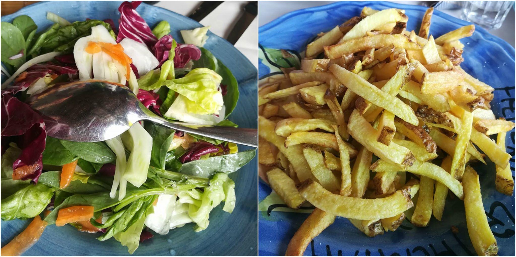 La Tagliata - insalata e patatine fritte