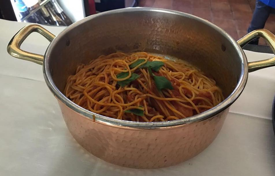 Ristorante Al convento Cetara, spaghetti al pomodoro San Marzano