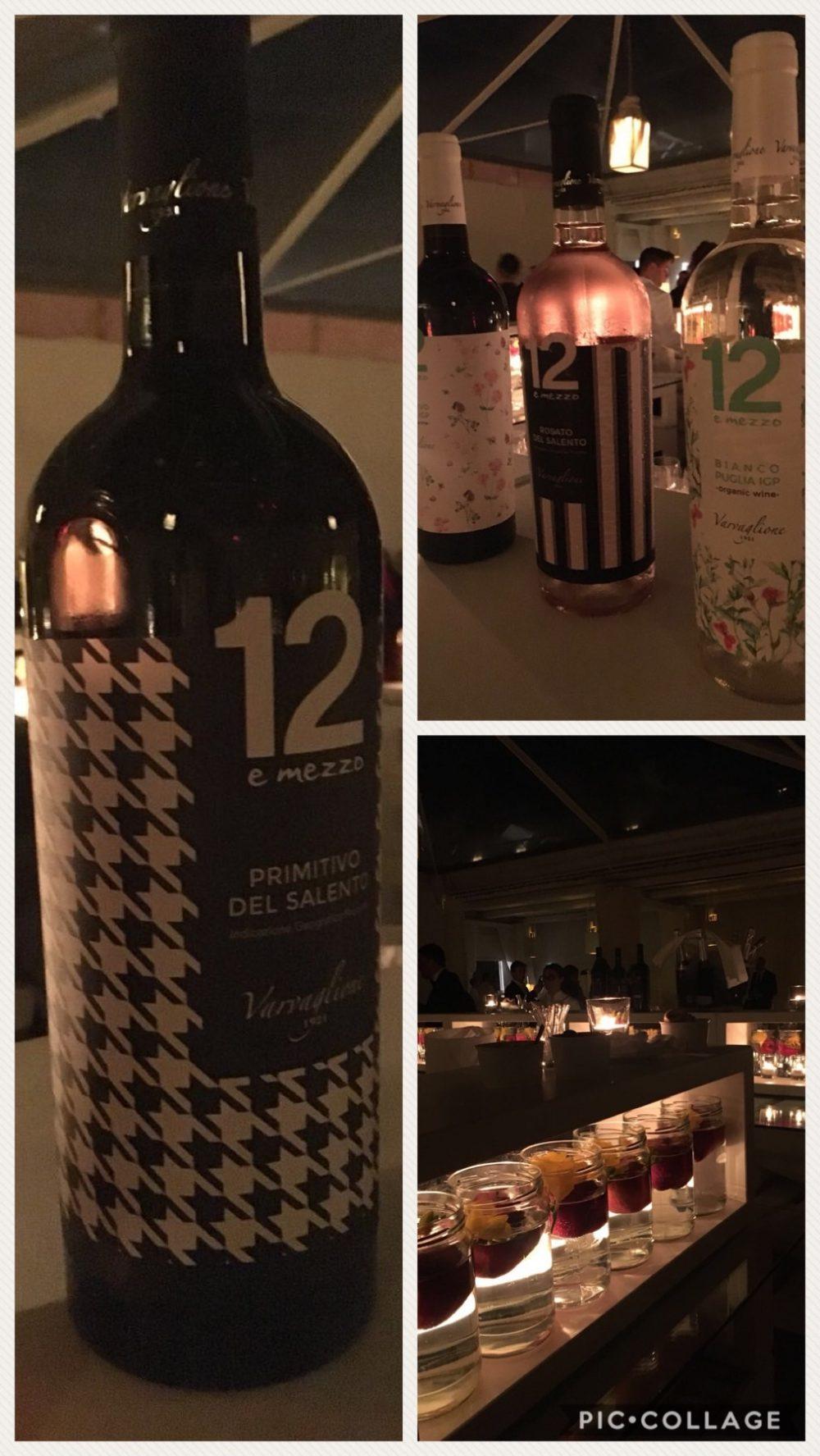 Alcuni vini dell'azienda della collezione 12 e mezzo, vini molto tradizionali nella produzione