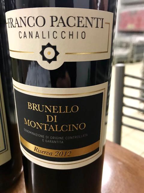 Brunello di Montalcino Franco Pacenti Canalicchio 2012