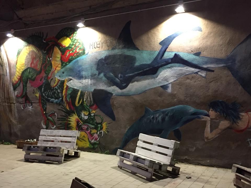 Centro Culturale Quid, murales all'ingresso