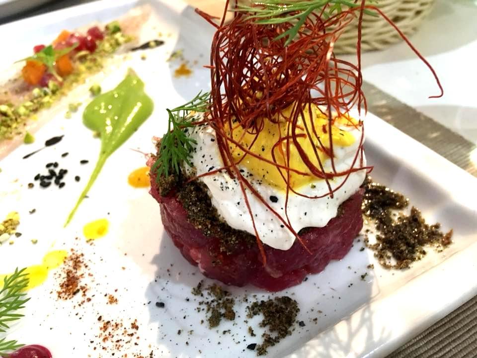Osteria Del Mare- Tartare di Tonno, Burrata & Salsa Allo Zafferano