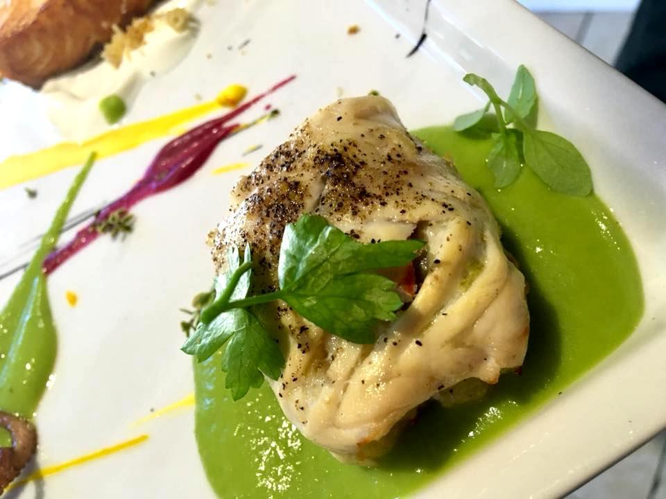 Osteria Del Mare- Baccala' Su Salsa di Piselli