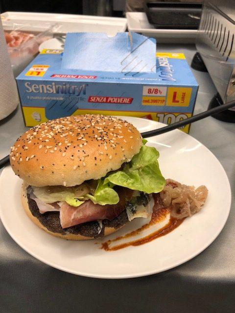 Il panino vincitore del contest 'il mio panino Dop e Igp' promosso da Fondazione Qualivita e AICG
