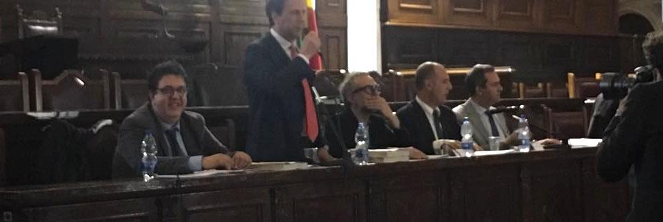 La presentazione con Massimo Bottura: Maurizio Cortese, raffaele Borriello e il sindaco De Magistris