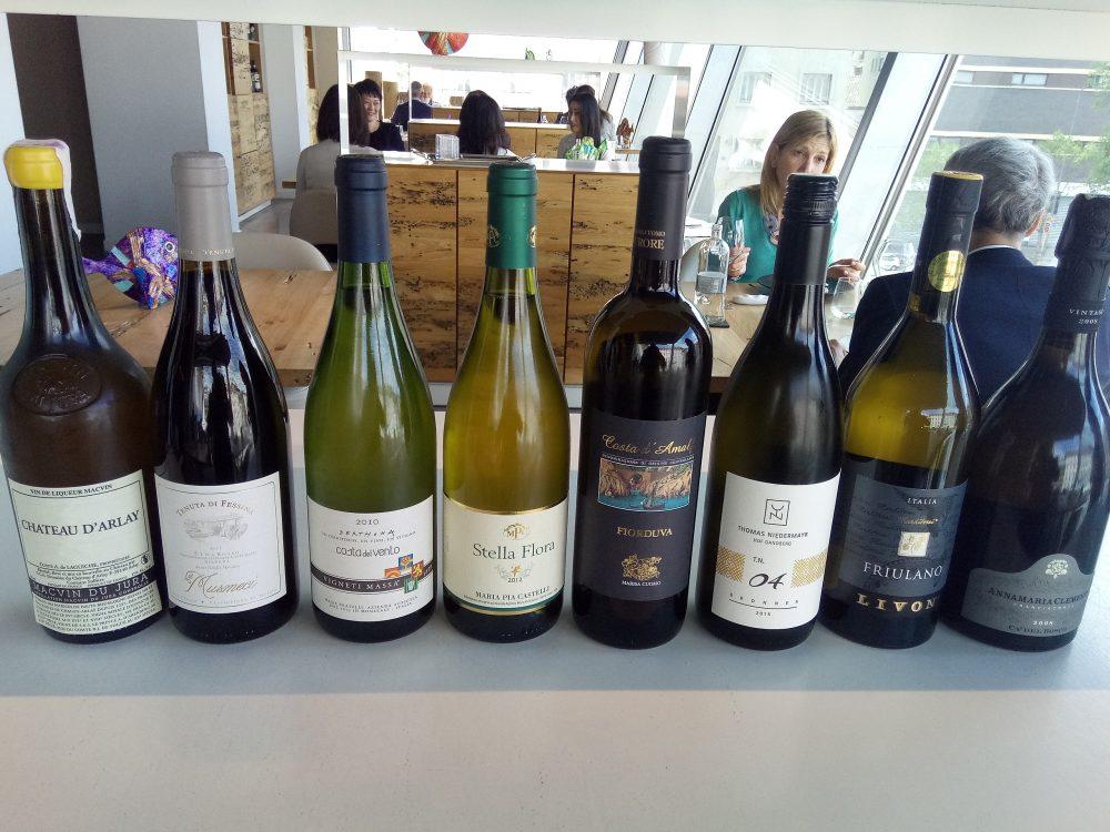 Ristorante Alice, Batteria dei vini degustati