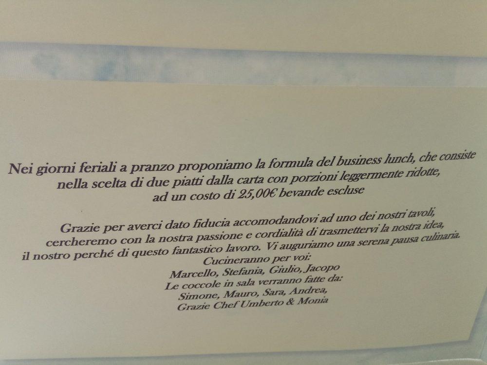 Ristorante Florian Maison Proposta feriale di due piatti