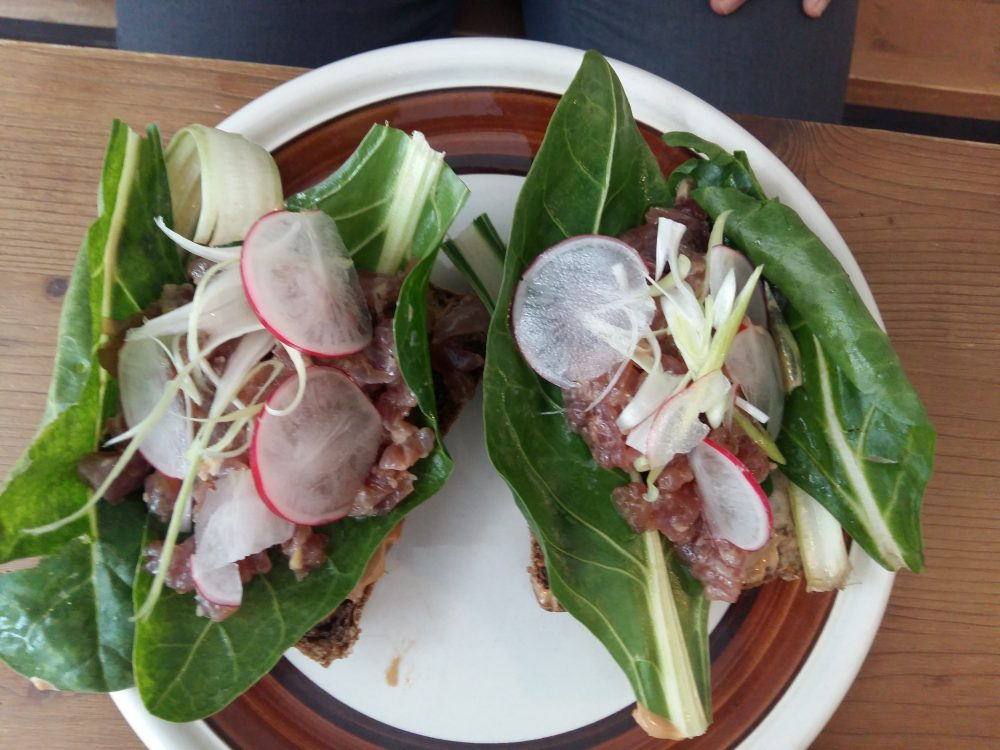Soulcrumbs - sandwich con tartarre di palamita