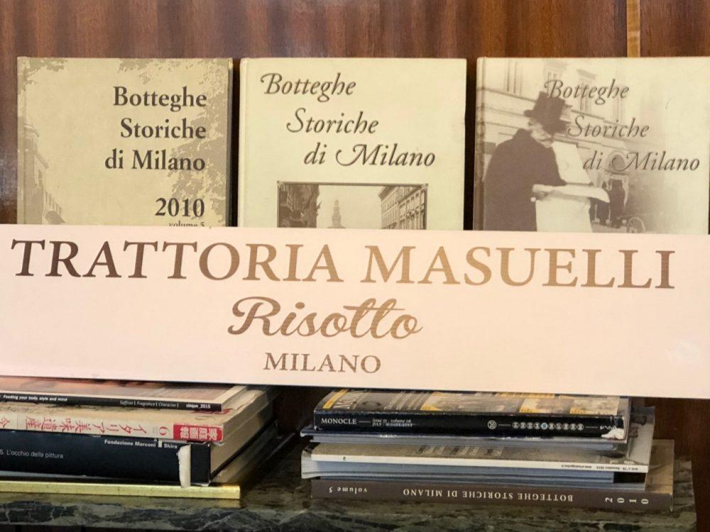 Trattoria Masuelli, Milano, risotto Milano e botteghe storiche