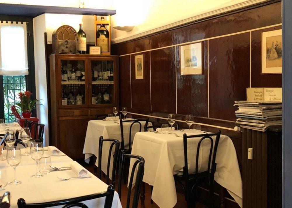 Trattoria Masuelli, Milano, una saletta