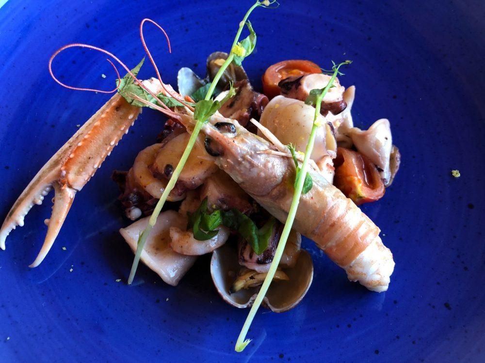 Vigneto, insalata di mare