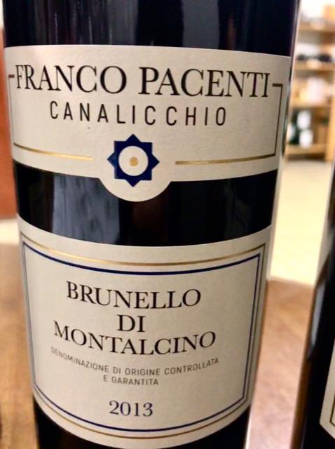 Brunello di Montalcino Franco Pacenti Canalicchio 2013