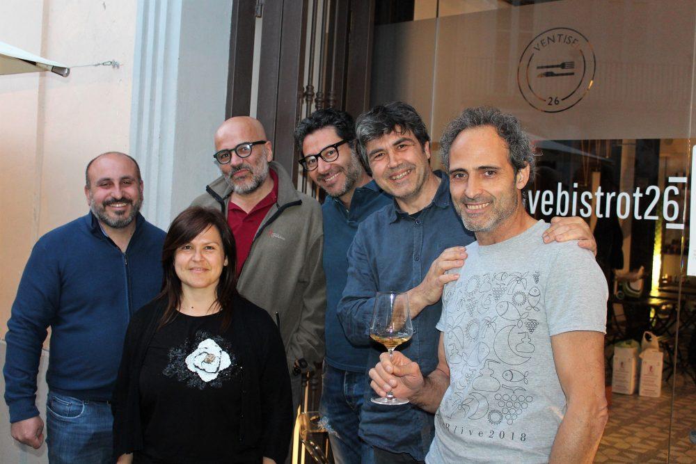 Bistrot26 – i produttori ospiti dell'evento con Mario Basco