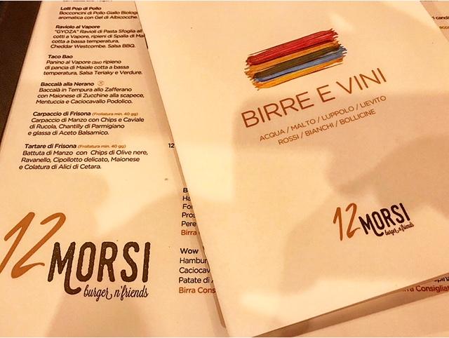 12 Morsi - Menu' e Carta dei Vini e Birre