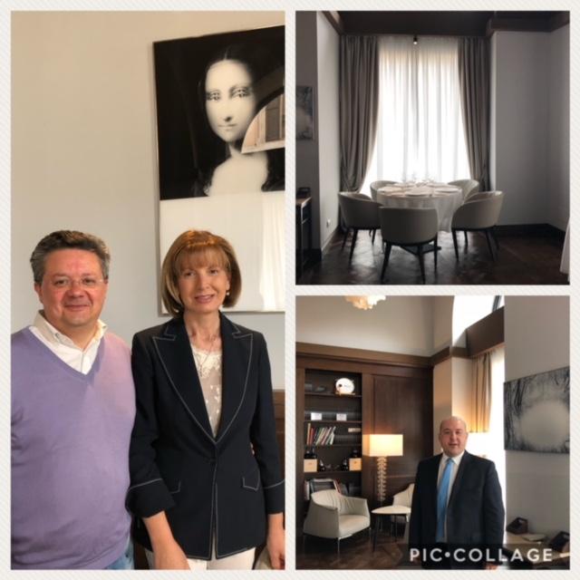 Al ristorante Pipero a Roma con Fabrizio Santarelli e sua moglie dell'azienda Castel de Paolis, il maitre Alessandro Pipero