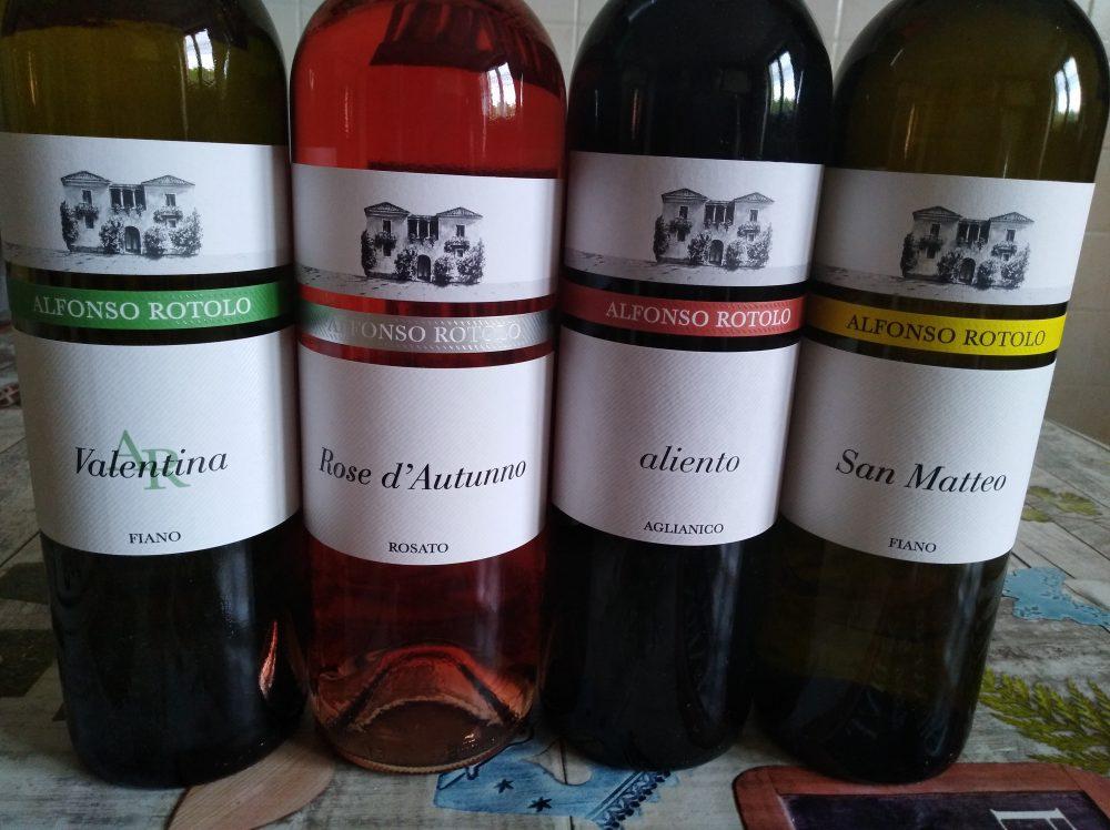 Azienda Alfonso Rotolo Bottiglie nuove annate