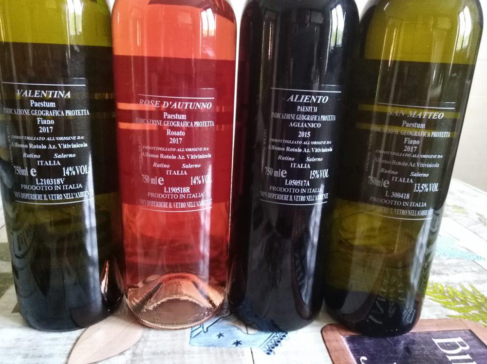 Azienda Alfonso Rotolo controetichette vini nuone annate