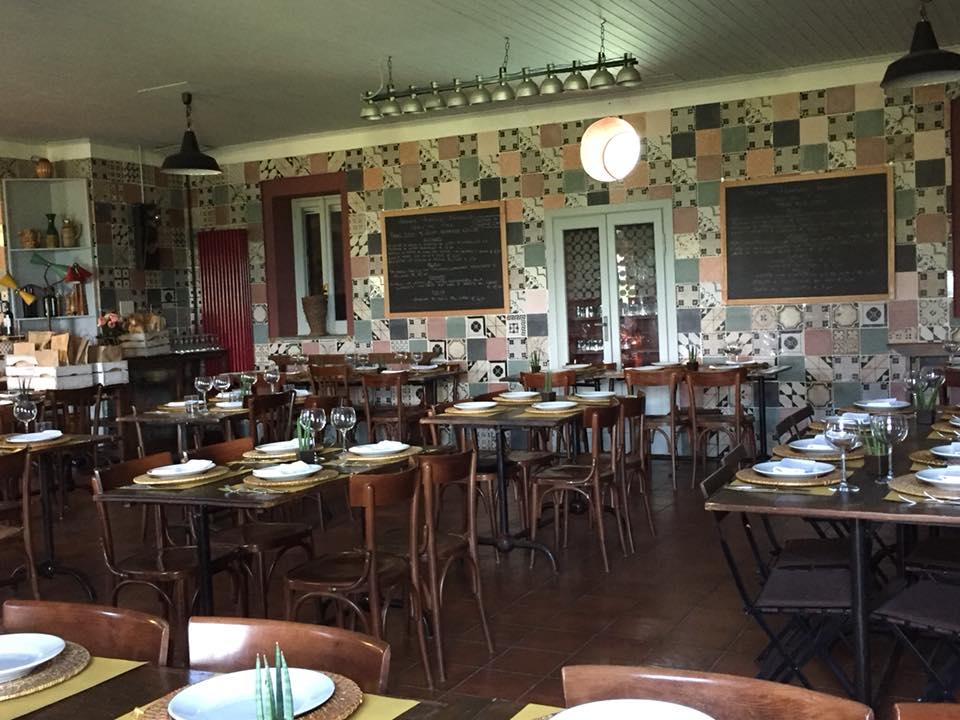 Casali del Pino, la sala del ristorante