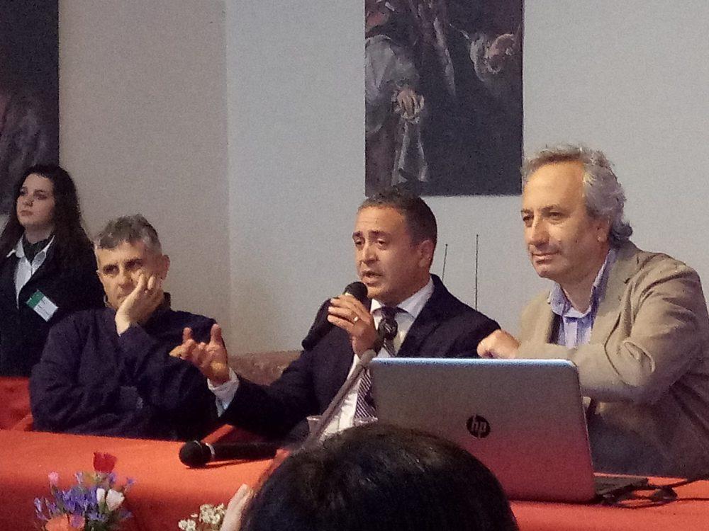 Ciak Irpinia Da sx. Piero Mastroberardino, Stefano Di Marzo e Luigi Moio