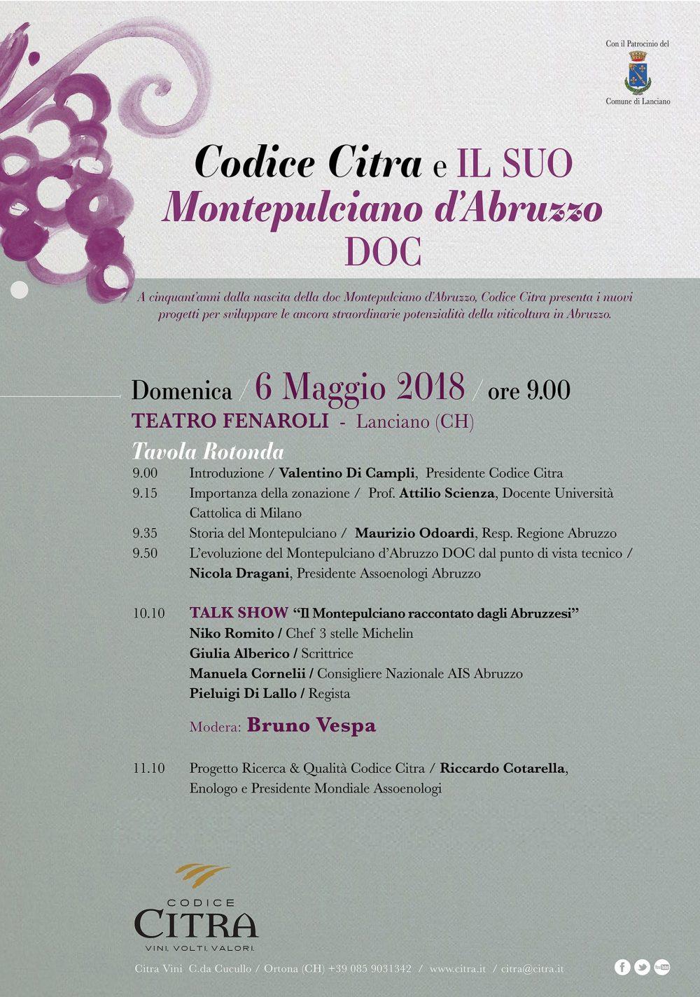 Codice Citra e il Suo Montepulciano d'Abruzzo DOC