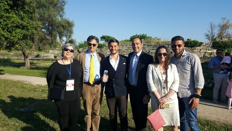 EVO International Olive Oil Contest, da sinistra Laura Dal Sacco, Nicolangelo Marsicani, Piero Matarazzo, Margherita Siano in Marsicani e Angelo Di Blasi
