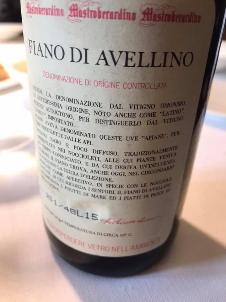 Fiano di Avellino 1993 Mastroberardino