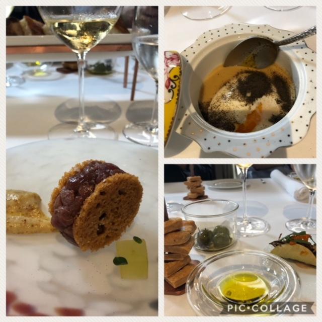I piatti abbinati ai vini di Castel de Paolis - Crudo d'oca, uovo in cocotte su crema di patate e polvere di te'