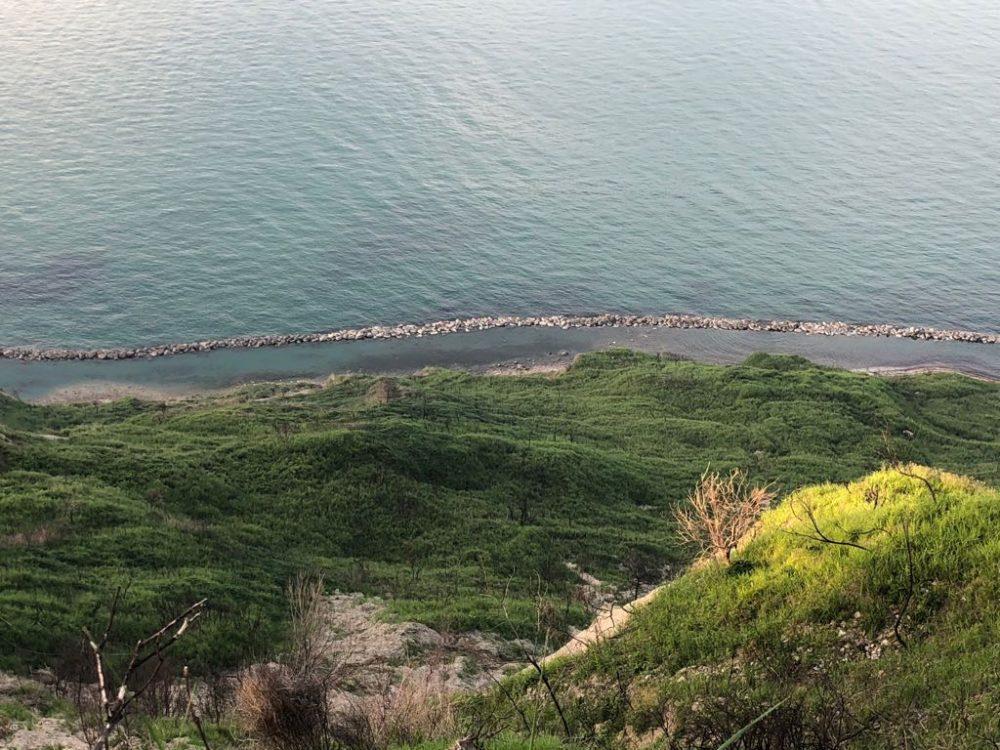 La vista sull'Adriatico in prossimita' della Canonica
