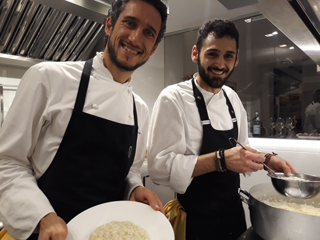 Lo chef Federico Delmonte e Salvatore Levantino