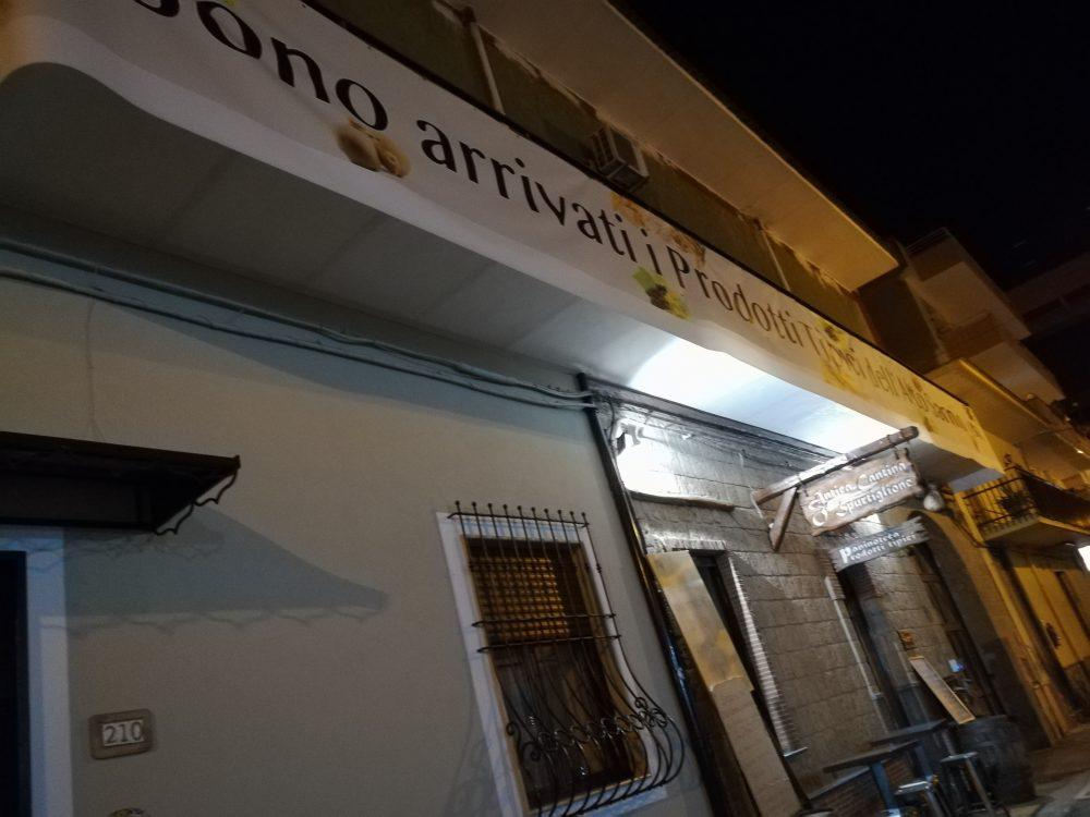 Antica Cantina O' Spurtiglione -Lo striscione