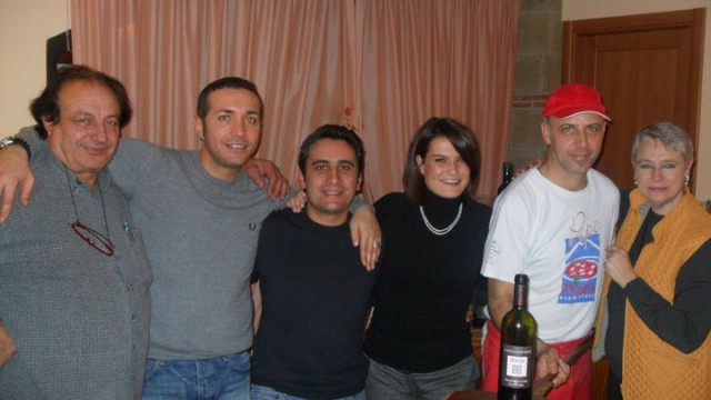 Luciano di Meo, Gino Sorbillo, Manuel Lombardi, Pepe, Tonia e Manuela Piancastelli