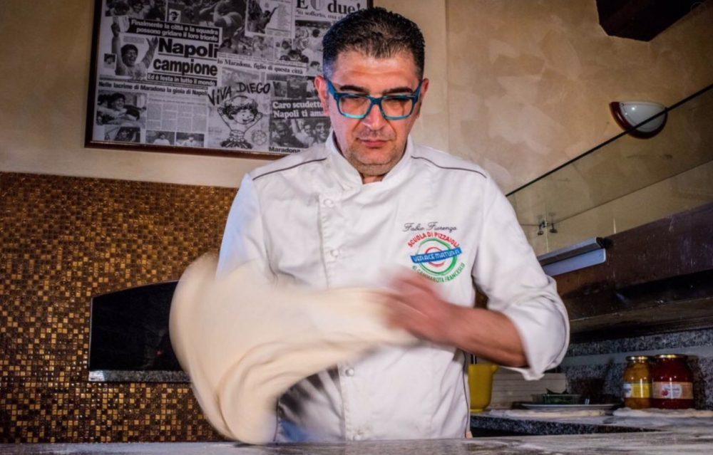 Made in Sud, il titolare, Fabio Fiorenza con le mani in pasta