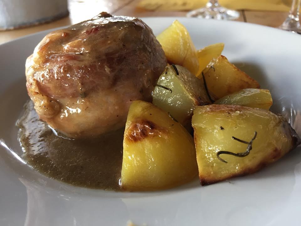 Manzo in porchetta e patate al forno