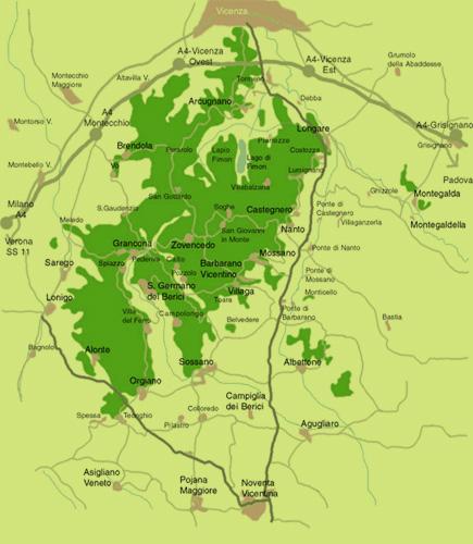 Mappa colli Berici